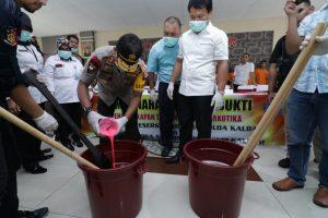 4,1 Kilogram Sabu Dimusnahkan, Polda Kalbar Sebut Berpotensi Mengkontaminasi 41 Ribu Warga
